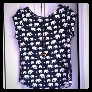 Ann Taylor Loft elephant tee shirt!! 🐘 🐘